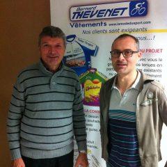 Rencontre avec Bernard THEVENET pour notre futur maillot.