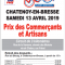 Prix des Commerçants et Artisans à Chatenoy en Bresse le 13 Avril 2019