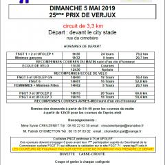A vos agendas : Prix de Verjux le 5 mai 2019 organisé par l'Amicale Cycliste Verdunoise