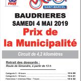 A vos agendas: Prix de la Municipalité du 4 Mai 2019 à Baudrières organisé par le Vélo Club de Saint-Marcel
