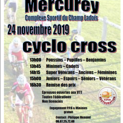 A vos agendas: Cyclo Cross de Mercurey le 24/11/2019